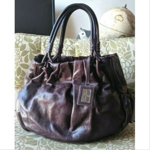 Giorgio Armani 😎 Leather Large Hobo Tote